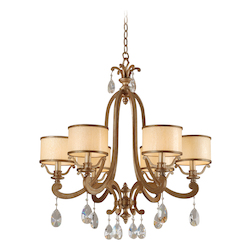 Corbett Antique Roman Silver 6 Light Chandelier from the Roma Collection