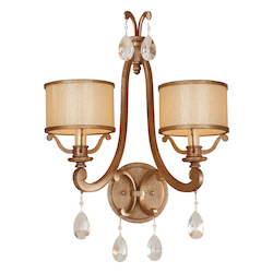 Corbett Antique Roman Silver 2 Light Wall Sconce from the Roma Collection