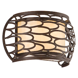 Corbett Napoli Bronze One Light Wall Sconce From The Cesto Collection