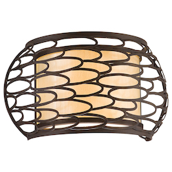 Corbett Napoli Bronze Two Light Wall Sconce From The Cesto Collection