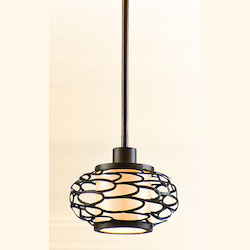 Corbett Napoli Bronze One Light Mini Pendant From The Cesto Collection