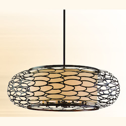 Corbett Napoli Bronze Ten Light Hanging Pendant From The Cesto Collection