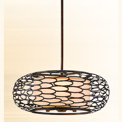 Corbett Napoli Bronze Three Light Hanging Pendant From The Cesto Collection
