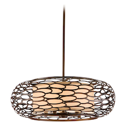 Corbett Napoli Bronze Five Light Hanging Pendant From The Cesto Collection