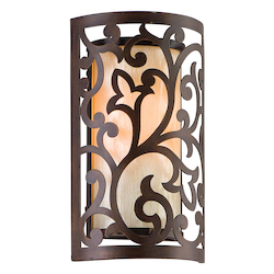 Corbett Tahitian Bronze One Light Wall Sconce From The Philippe Collection