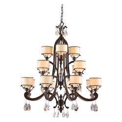 Corbett Classic Bronze Sixteen Light Chandelier From The Roma Collection