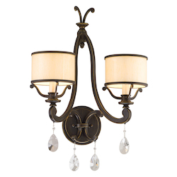 Corbett Classic Bronze Two Light Bathroom Fixture From The Roma Collection