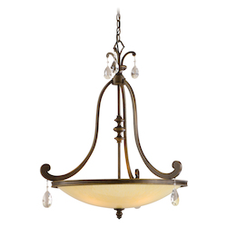 Corbett Classic Bronze Four Light Inverted Pendant From The Roma Collection