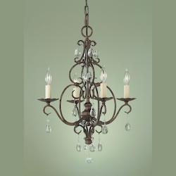 Feiss Open Box Four Light Mocha Bronze Up Chandelier