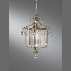 Feiss One Light Gilded Silver Cage Semi-Flush Mount