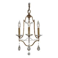 Feiss Three Light Oxidized Bronze Up Mini Chandelier