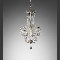 Feiss One Light Burnished Silver Up Chandelier