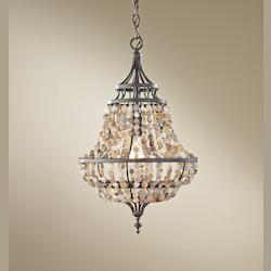 Feiss One Light Rustic Iron Down Pendant
