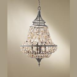 Feiss Four Light Rustic Iron Up Chandelier
