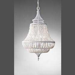 Feiss Four Light White Semi Gloss Up Chandelier