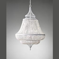 Feiss Six Light White Semi Gloss Up Chandelier