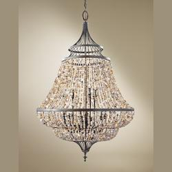 Feiss Nine Light Rustic Iron Up Chandelier