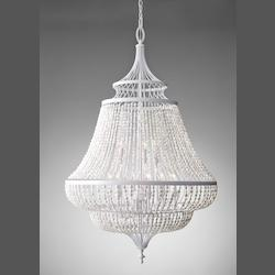 Feiss Nine Light White Semi Gloss Up Chandelier