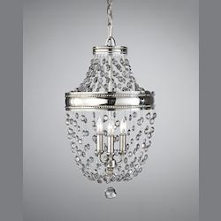 Feiss Three Light Polished Nickel Up Chandelier