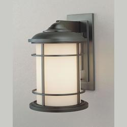 Feiss One Light Burnished Bronze Opal Etched Glass Wall Lantern
