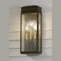 Feiss Three Light Astral Bronze Wall Lantern