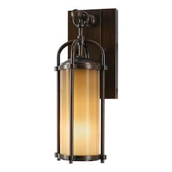 Feiss Open Box One Light Heritage Bronze Aged Oak Glass Wall Lantern