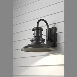Feiss One Light Restoration Bronze Wall Lantern
