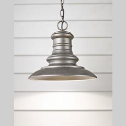 Feiss One Light Tarnished Outdoor Pendant