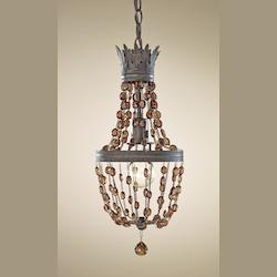 Feiss One Light Rustic Iron Down Mini Pendant