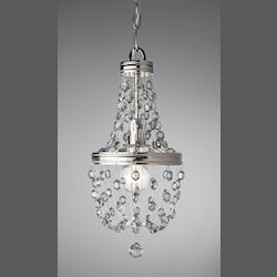 Feiss One Light Polished Nickel Down Mini Pendant