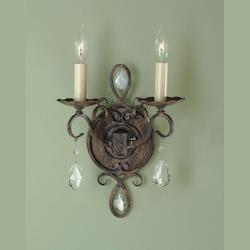 Feiss Two Light Mocha Bronze Wall Light