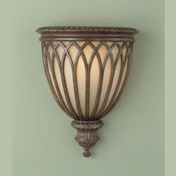 Feiss One Light British Bronze Antique Excavation Glass Wall Light