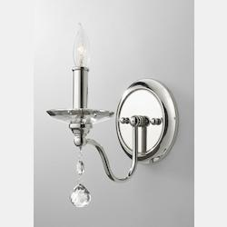Feiss One Light Polished Nickel Wall Light