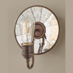 Feiss One Light Astral Bronze Wall Light