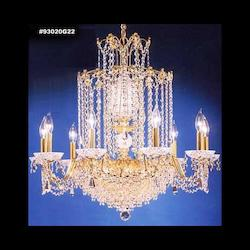 James R Moder Empress Chandelier With Silver Finish