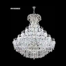James R Moder Maria Theresa Grand Collection Chandelier In Silver Finish