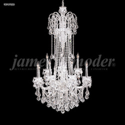 James R Moder Maria Elena Chandelier With Silver Finish