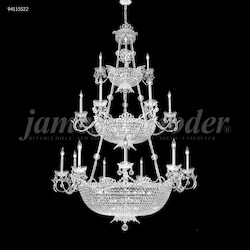 James R Moder Princess Chandelier In Silver Finish