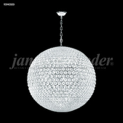 James R Moder Sun Sphere Europa 32 Light Pedant In Silver Finish