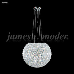 James R Moder Sun Sphere Europa Chandelier In Silver Finish