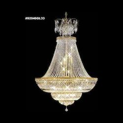 James R Moder Empire Crystal Chandelier With Gold Finish