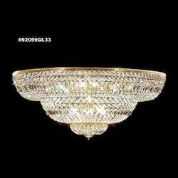James R Moder Empire Crystal Flush Mount In Gold Lustre Finish
