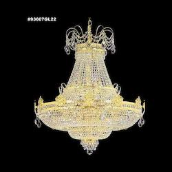 James R Moder Entry Crystal Chandelier With Gold Finish