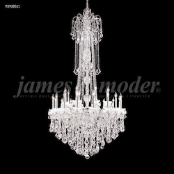 James R Moder Maria Elena Chandelier With Chrome Finish And Crystals