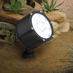Kichler Landscape Textured Black Spot Light