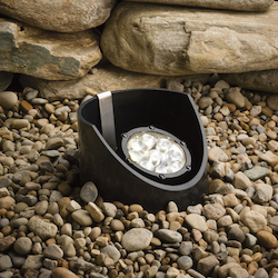 Kichler Landscape Nine Light Textured Black Well Light