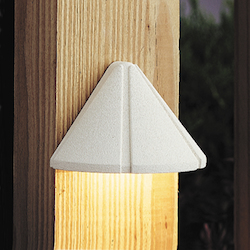 Kichler Landscape One Light White Deck Light