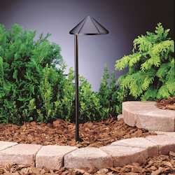 Kichler Landscape Three Light Textured Black Path Light