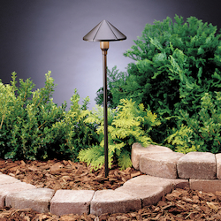 Kichler Landscape Three Light Textured Architectural Bronze Path Light