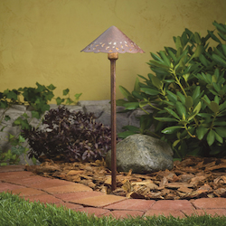 Kichler Landscape Three Light Textured Tannery Bronze Path Light